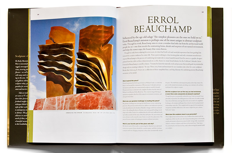 Errol Beauchamp featured in Sculpture of the Rockies
